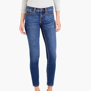 J. Crew Toothpick Skinny Ankle Mid-rise Jeans